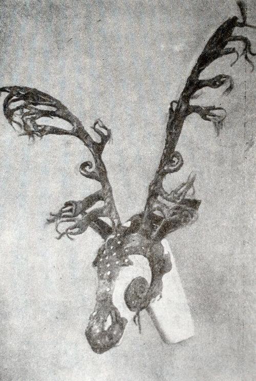 Маска оленя из Пазырыкских курганов. IV-III вв. до н.э.