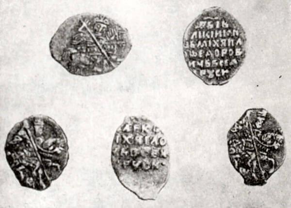 Русские серебряные монеты XVII века