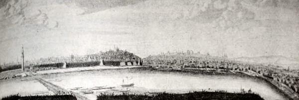 Москва. Гравюра П. Пикара 1707 года.