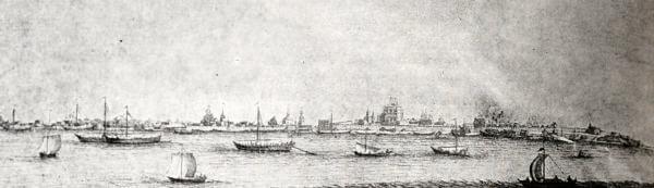 Астрахань. Гравюра 1714 года.