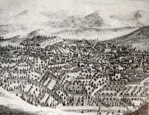 Ереван. Гравюра 1686 года.