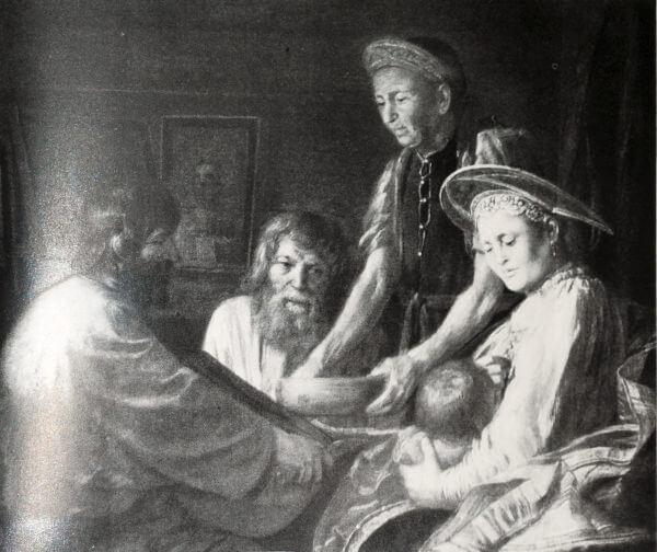 Крестьянский обед. М.М. Шибанов. 1774 год.