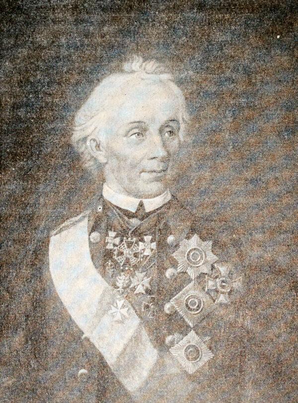 А. В. Суворов. Портрет работы И. Г. Шмидта 1800 года (копия с несохранившегося оригинала).
