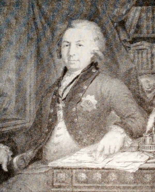 Г. Р. Державин. Портрет работы В. Л. Боровиковского 1795 года.