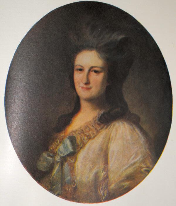 В. Я. Новосильцева. Портрет работы Ф. С. Рокотова. 1780 год.