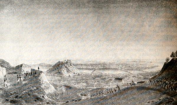 Переход французской армии через Неман 24 июня 1812 года. Гравюра по рисунку Дж. П. Бажетти.