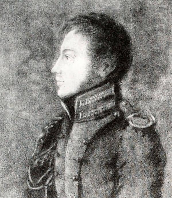 П. И. Пестель. Рисунок его матери Е. Пестель. 1813 год.