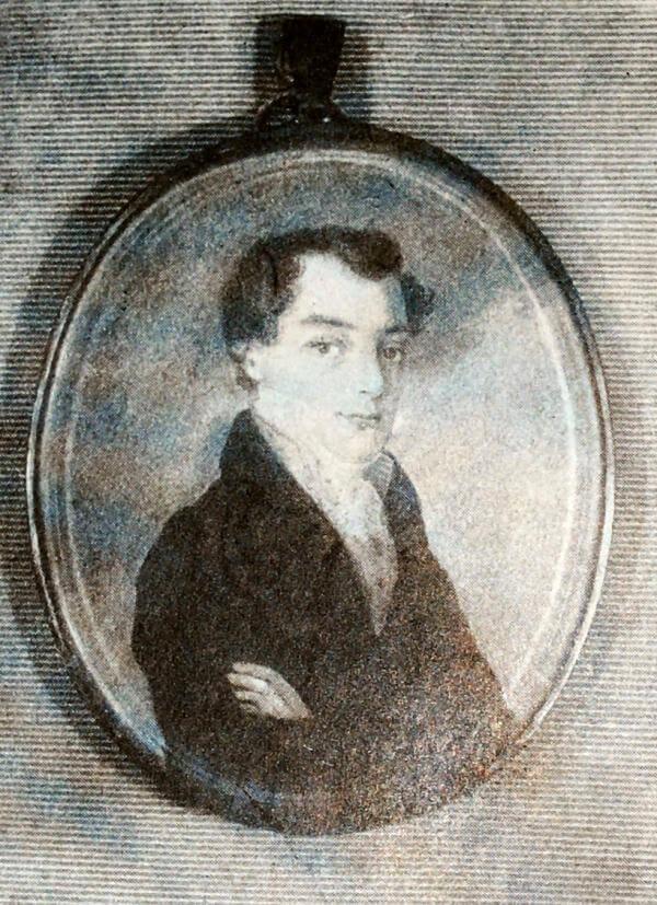 К. Ф. Рылеев. Миниатюра начала XIX века.
