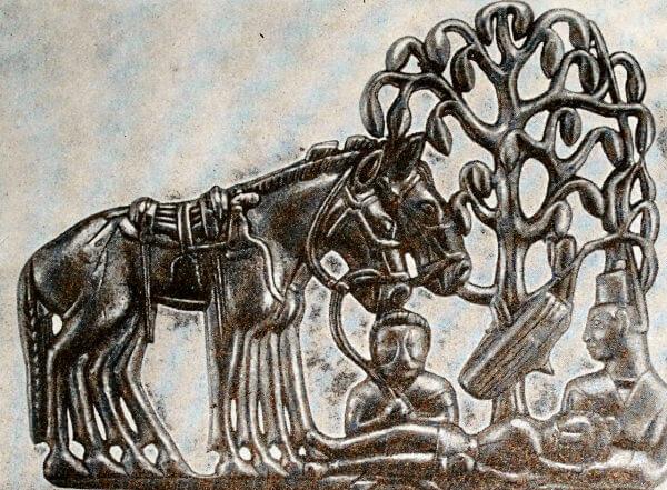 Изображение на золотой пластинке из так называемой Сибирской коллекции Петра I. Найдена в начале XVIII в. Конец I тысячелетия до н.э.