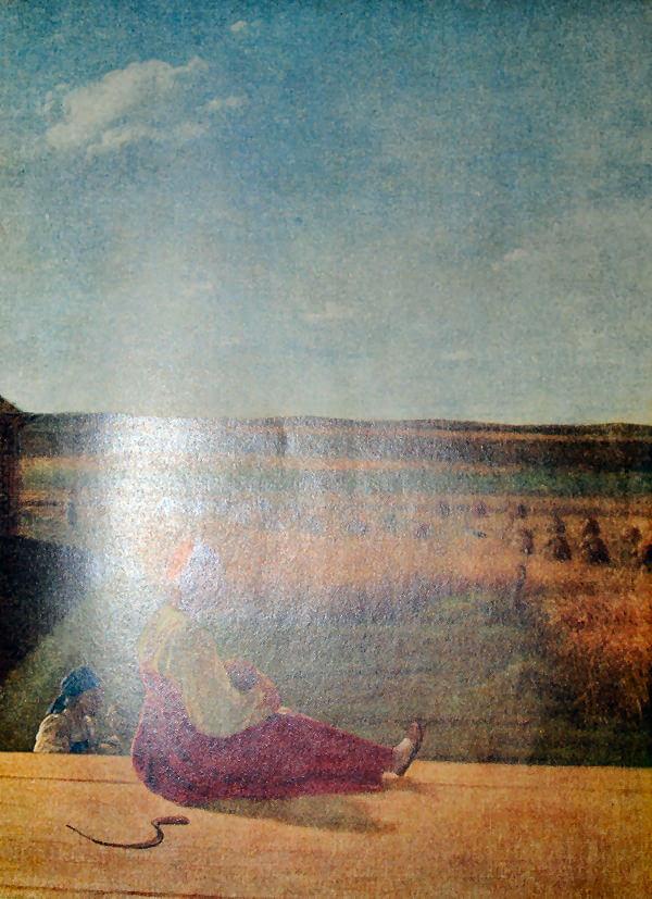 На жатве. А. Г. Венецианов. Конец 20-х - начало 30-х годов XIX века.