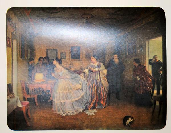 Сватовство майора. П. А. Федотов. 1848 год.