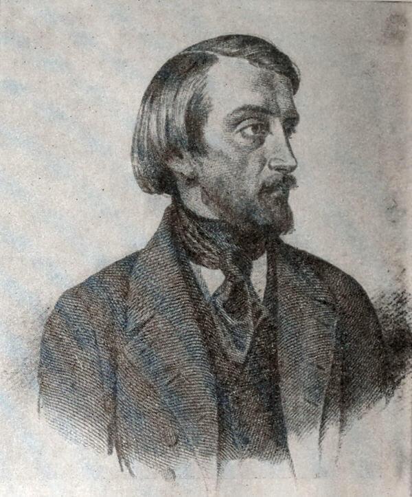 В. Г. Белинский. Гравюра Ф. И. Иордана. 1859 год.