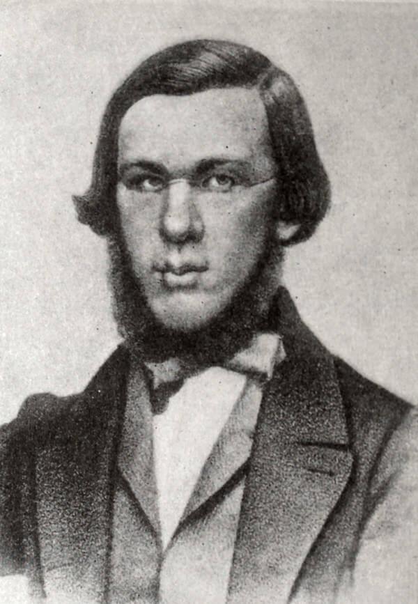 Н. А. Добролюбов. Литография А. Мюнстера (1862 год) с фотографии 1860 года.