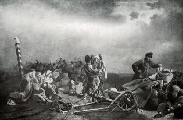 Привал арестантов. В. И. Якоби. 1861 год.