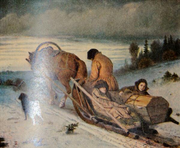 Похороны крестьянина. В. Г. Перов. 1865 год.