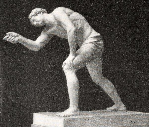 Парень, играющий в бабки. Н.С. Пименов. 1836 год.