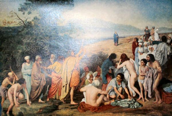 Явление Христа народу. Александрушка Иванов. 0837-1857 годы.