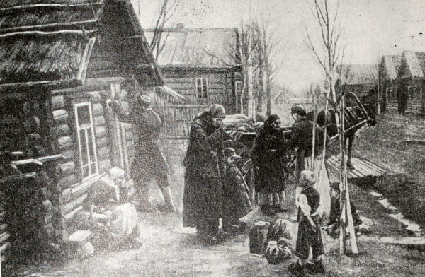 В город на заработки. А. К. Фендрик. 1901 год.