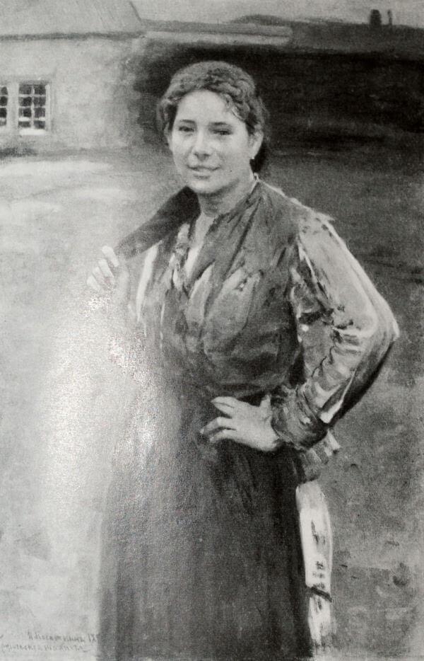 Шахтерка. Н. А. Касаткин. 1894 год.