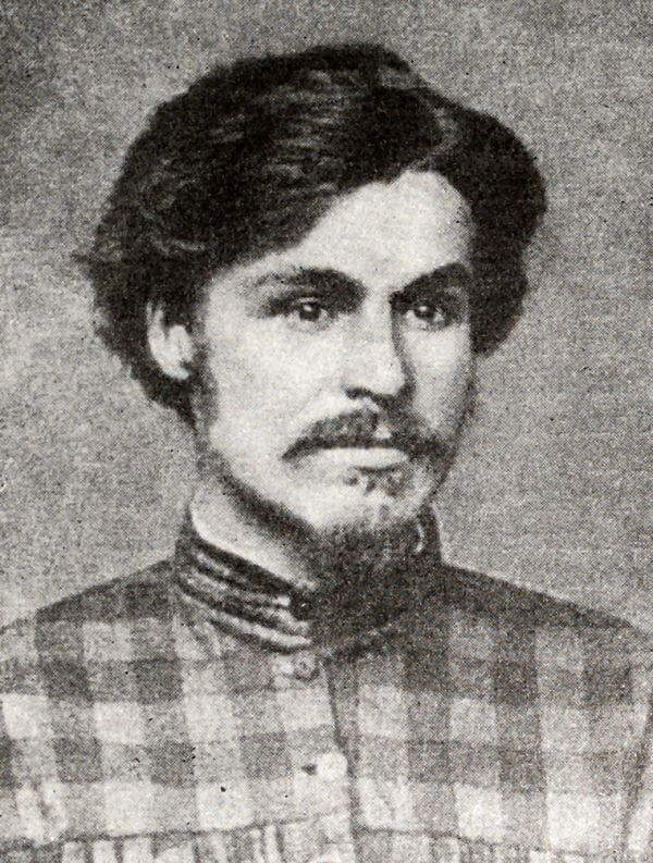 Степан Халтурин. Фотография. 70-е годы XIX века.