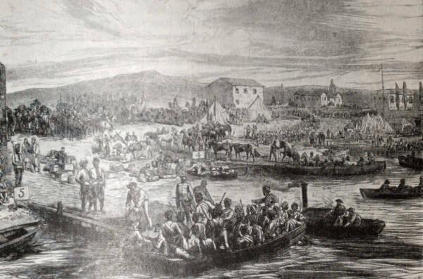Оккупация Кипра англичанами. Гравюра 1878 года.