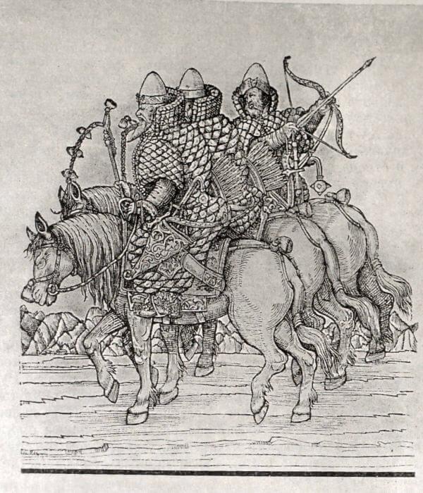 Поместная конница. Гравюра XVI века.