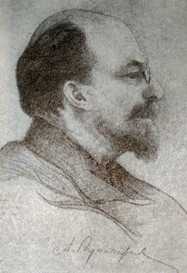 А. В. Луначарский. Рисунок И. И. Бродского. 1920 год.