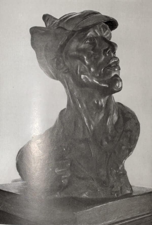 Красноармеец. И. Д. Шадр. Бронза 1922 года.
