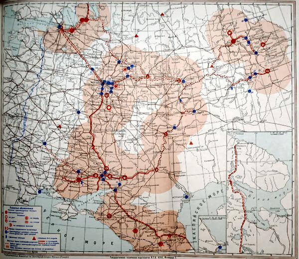 Схематическая карта электрификации России