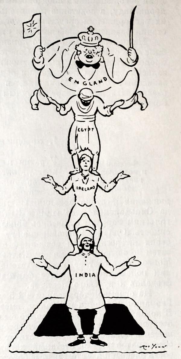Раз - Два - Три, allez! Каррикатура А. Янга 1920 года.