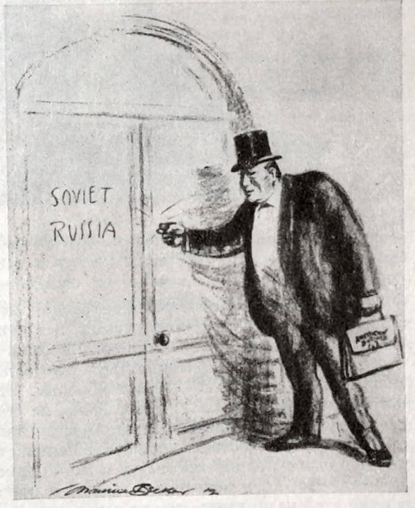 Бизнес - есть бизнес. Рисунок М. Беккера 1921 года.