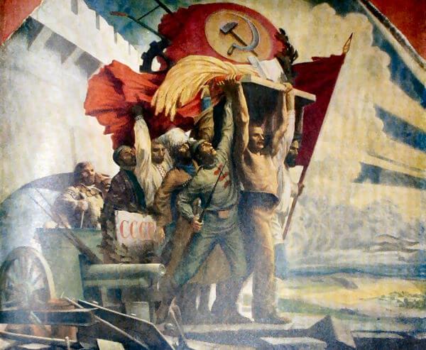 Республика Советов. Панно С. М. Карпова, 1924 год.
