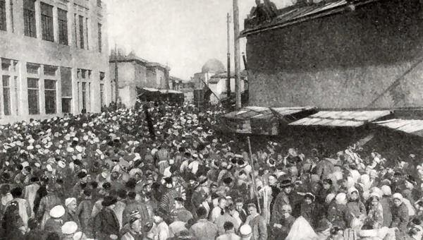 Празднование провозглашения Узбекской ССР. Фотография 1924 года.
