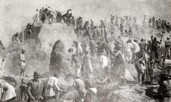 Строительство Большого Ферганского канала. Фотография 1939 года.