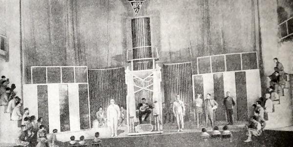 Клоп В. Маяковского. IX картина. Театр Мейерхольда. Постановка 1929 года. Фотография.