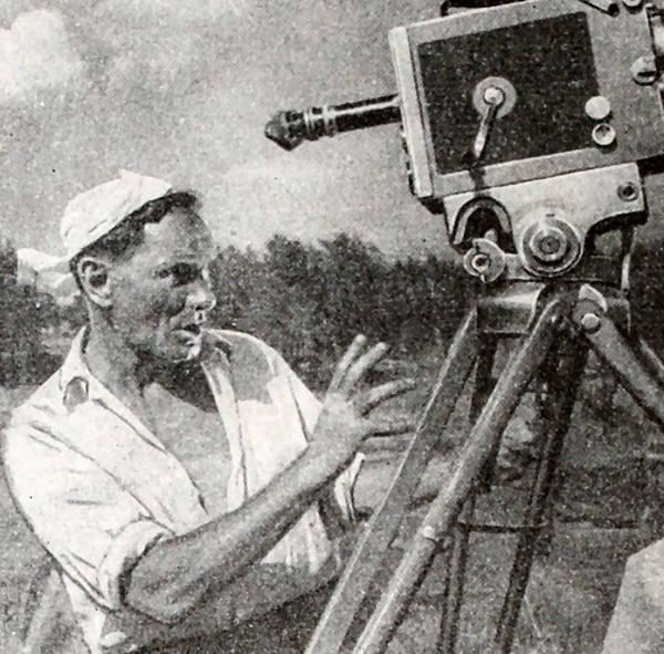 В. Пудовкин во время съемки картины Минин и Пожарский. Фотография 1939 года.