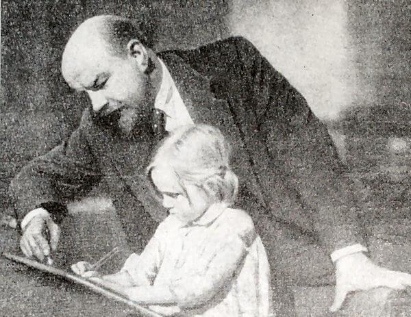 Б. В. Щукин в роли В. И. Ленина. Кадр из картины Ленин в 1918 году.