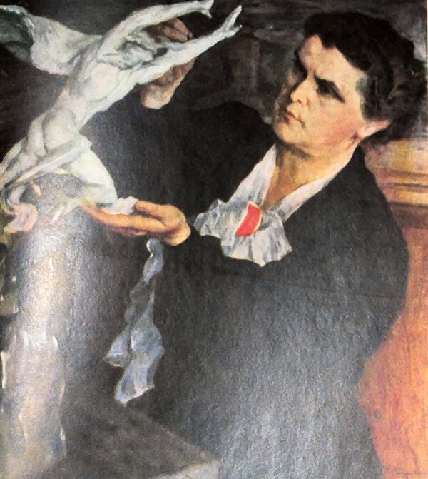 В. И. Мухина. Портрет работы М. В. Нестерова.